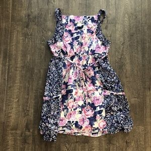 Floral Dress with string ties - Charlotte Russe